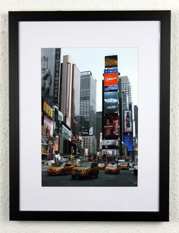 'Times Taxis' - Original New York City photography, framed and mounted