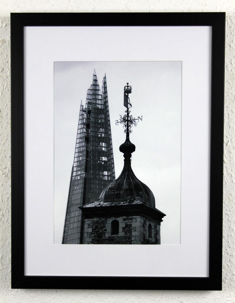 'Towers of London 2' - Tower of London & The Shard, Original photography, framed