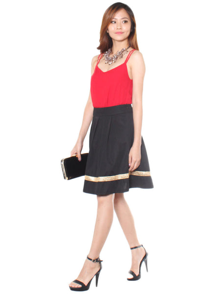 (30% OFF) ARABELLE A-Line Skirt - Gold (Size S to L) - TUESDAY C.