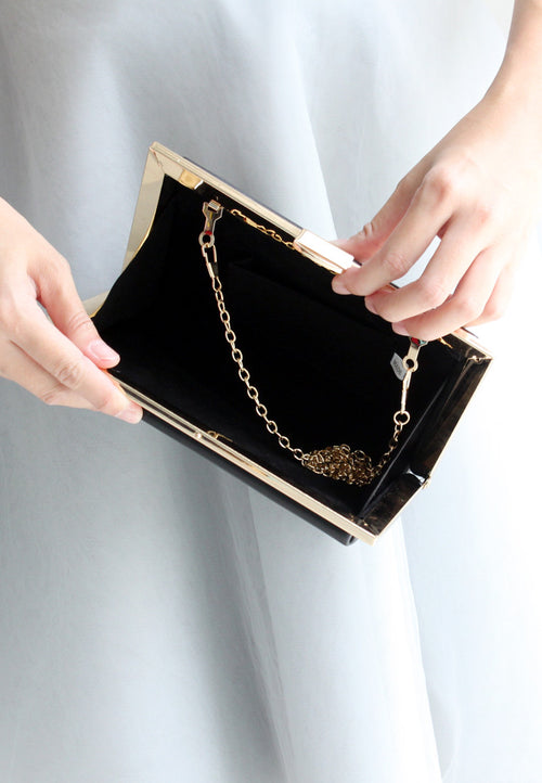 | BACK-IN-STOCK | Becky Clutch - 2 Ways (Black) - TUESDAY C.