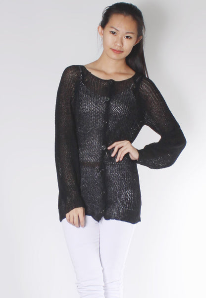 (50% OFF) BLACK QUEEN Knitted Top - TUESDAY C.