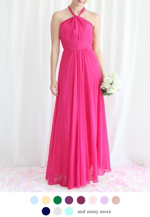 TC Annabelle Halter Bridesmaid Maxi Dress (Custom-Made) TUESDAY C. - TUESDAY C.