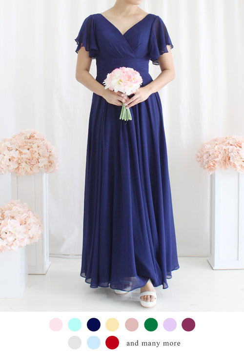 TC Melrose V Neck Bridesmaid Maxi Dress (Custom-Made) TUESDAY C. - TUESDAY C.