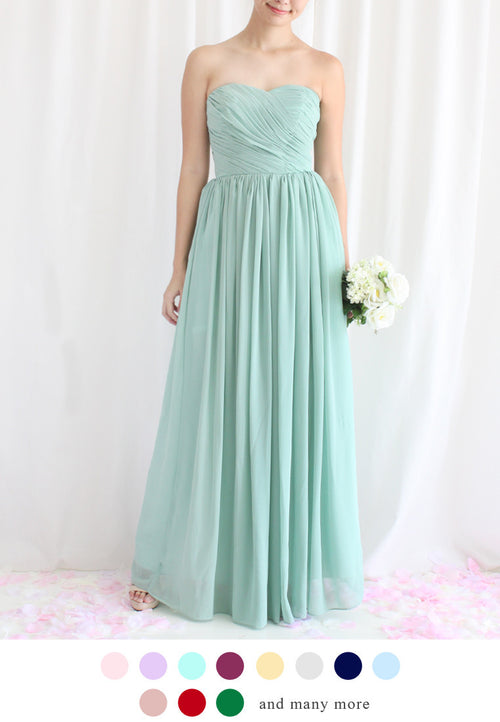 TC Amadine Sweetheart Bridesmaid Maxi Dress (Custom-Made) TUESDAY C. - TUESDAY C.