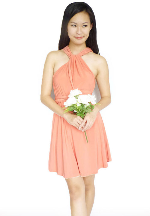 (30% OFF) TC LOWIE Convertible Dress (Peach) - TUESDAY C.
