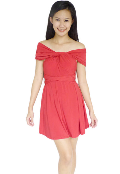 (30% OFF) TC LOWIE Convertible Dress (Red) - TUESDAY C.