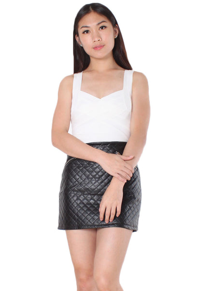 (30% OFF) CANDACE Pleather Skirt - Size S & M - TUESDAY C.