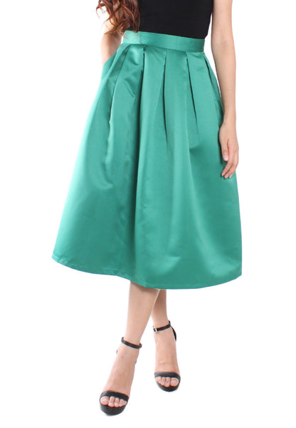 (20% OFF) DOLLY Midi Skirt - Emerald (Size XS to L) - TUESDAY C.