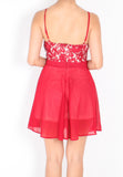 Halsey Halter Lace Romper (Red) - S / M - TUESDAY C.
