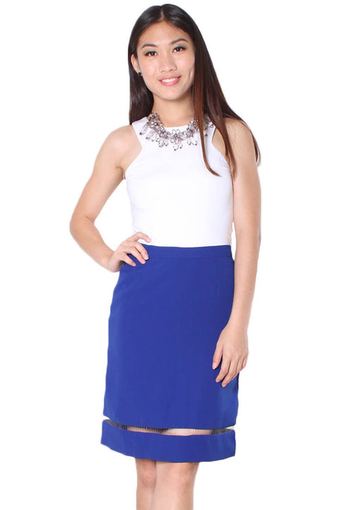 (30% OFF) KATIE Pencil Skirt (Blue) - Size S & M - TUESDAY C.