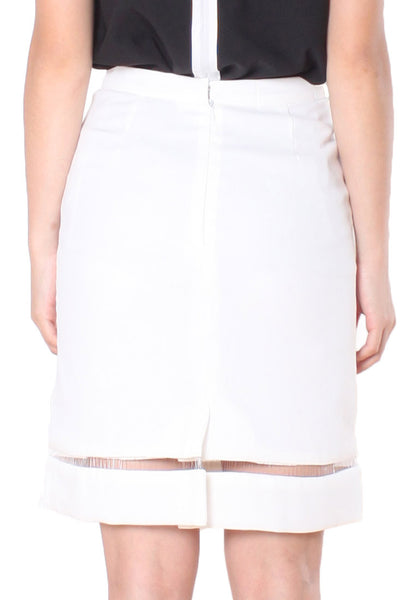(30% OFF) KATIE Pencil Skirt (White) - Size S & M - TUESDAY C.