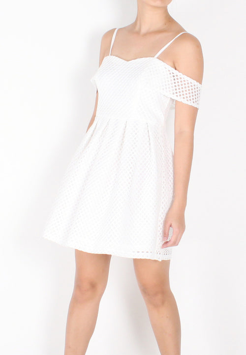 Layna Crochet Off Shoulder Dress - S / M / L - TUESDAY C.