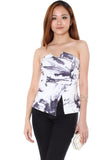 Liv Bustier (Marble Print) - Size S & M - TUESDAY C.
