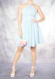 (20% OFF) TC Annabelle Halter Bridesmaid Dress (Baby Blue) - Size XS to L - TUESDAY C.