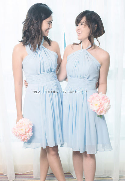 (20% OFF) TC Annabelle Halter Bridesmaid Dress (Dusty Pink) - Size XS to L - TUESDAY C.