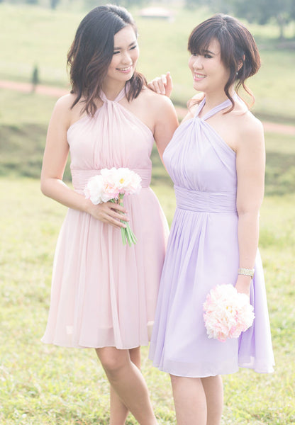 (20% OFF) TC Annabelle Halter Bridesmaid Dress (Lavender) - Size XS to L - TUESDAY C.
