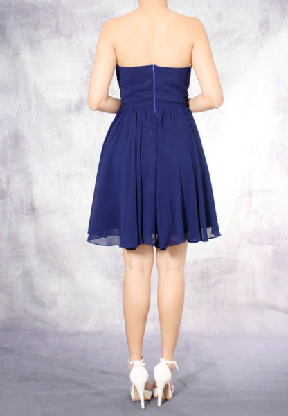 (20% OFF) TC Amadine Sweetheart Bridesmaid Dress (Navy Blue) - Size XS to L - TUESDAY C.
