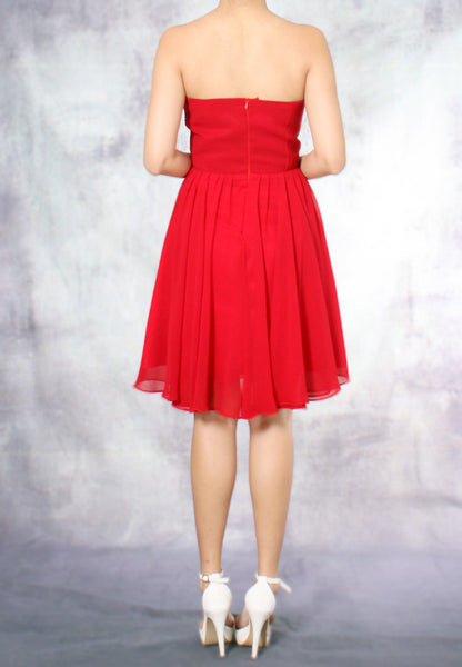 (20% OFF) TC Amadine Sweetheart Bridesmaid Dress (Red) - Size XS to L - TUESDAY C.