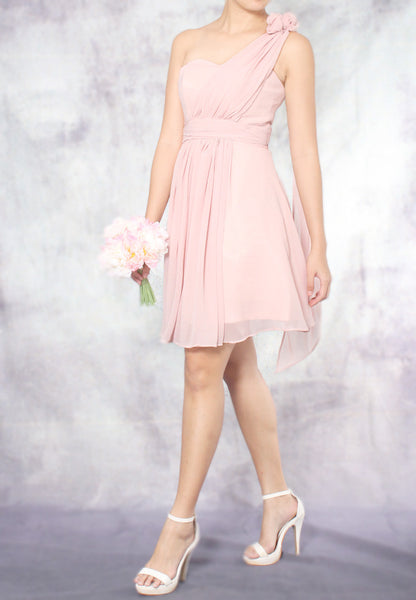 (20% OFF) TC Aleandra Toga Bridesmaid Dress (Dusty Pink) - Size XS to L - TUESDAY C.