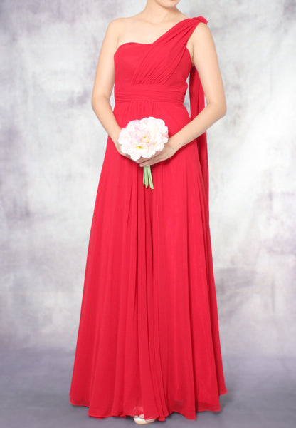 (20% OFF) TC Aleandra Toga Bridesmaid Maxi Dress (Red) - Size XS to L - TUESDAY C.