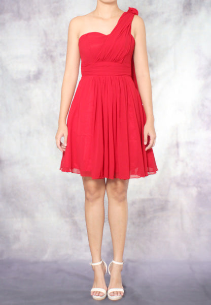 (20% OFF) TC Aleandra Toga Bridesmaid Dress (Red) - Size XS to L - TUESDAY C.