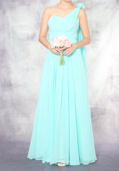 (20% OFF) TC Aleandra Toga Bridesmaid Maxi Dress (Tiffany Blue) - Size XS to L - TUESDAY C.
