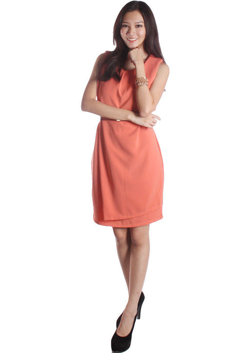 (30% OFF) CHRISTINA Corporate Dress (Peach) - TUESDAY C.