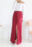 TC Xandra Maxi Slit Skirt (Maroon) - XS to L - TUESDAY C.