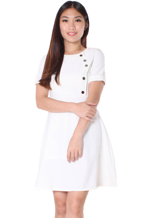 (30% OFF) MIDDLETON Sleeves Dress (White) - Size S & M - TUESDAY C.