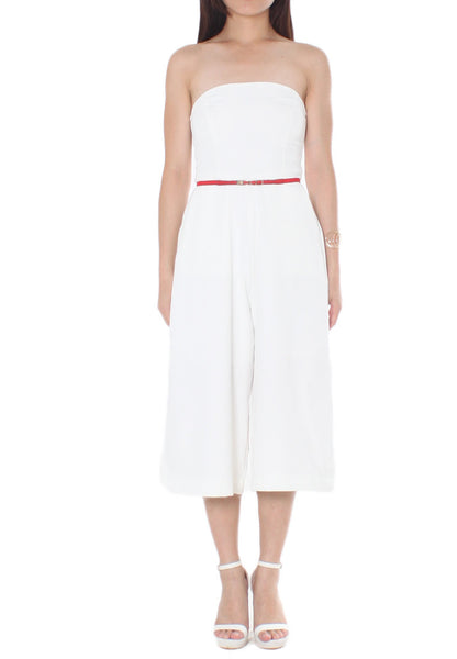 Leigh Culottes Romper (White) - Size S & M - TUESDAY C.