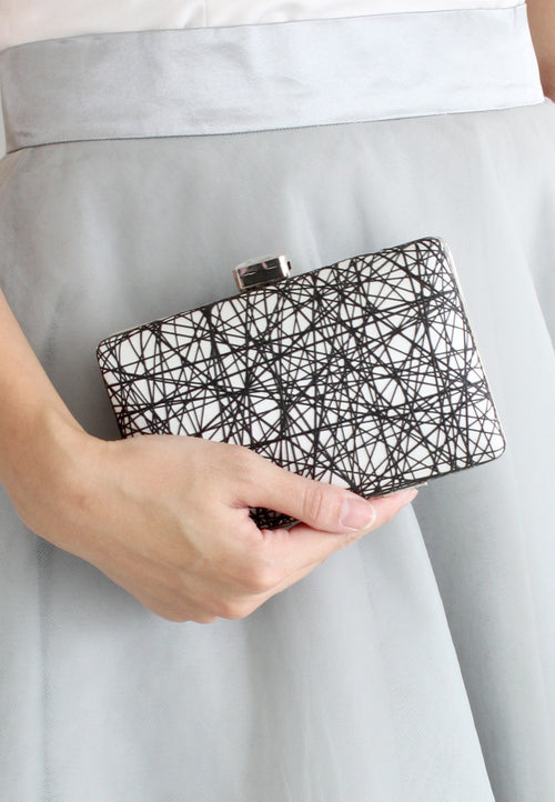 Jora Textured Clutch - 2 Ways (Black) - TUESDAY C.