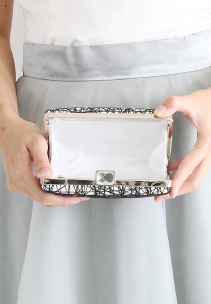 Jora Textured Clutch - 2 Ways (White) - TUESDAY C.