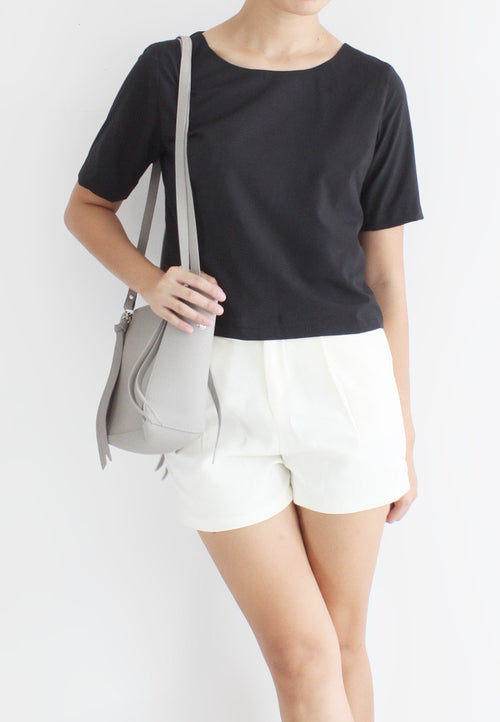 TC Glen Basic Boxy Top (Black) - Size S / M / L - TUESDAY C.
