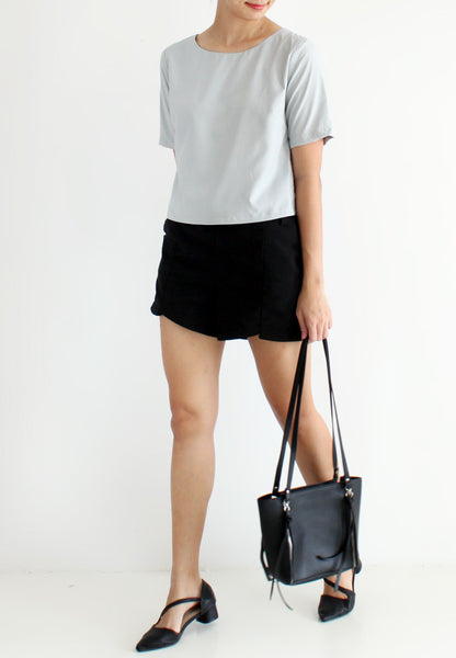 TC Glen Basic Boxy Top (Grey) - Size S / M / L - TUESDAY C.