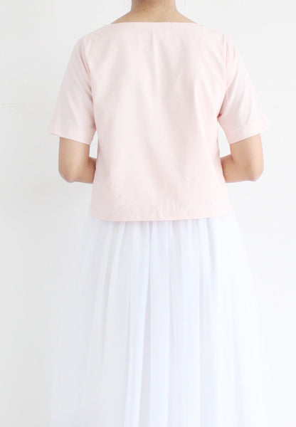 TC Glen Basic Boxy Top (Pink) - Size S / M / L - TUESDAY C.