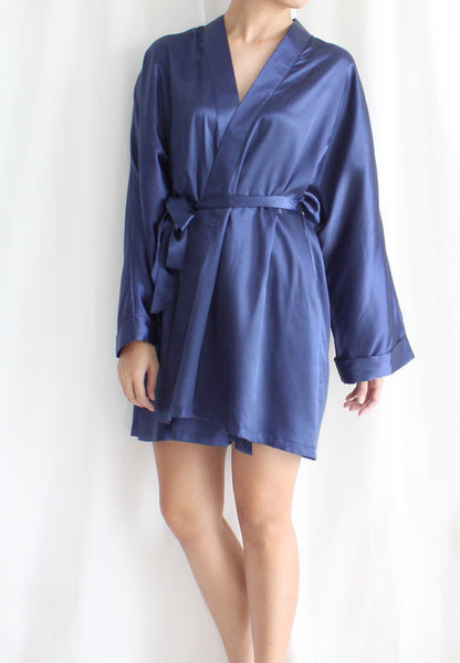[BACKORDER] TC Lysa Kimono Robe (Navy Blue) - Free Size TUESDAY C. - TUESDAY C.
