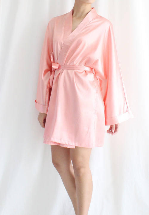 [BACKORDER] TC Lysa Kimono Robe (Peach) - Free Size TUESDAY C. - TUESDAY C.
