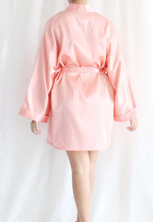 [BACKORDER] TC Lysa Kimono Robe (Peach) - Free Size - TUESDAY C.