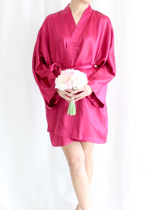 [BACKORDER] TC Lysa Kimono Robe (Maroon) - Free Size - TUESDAY C.