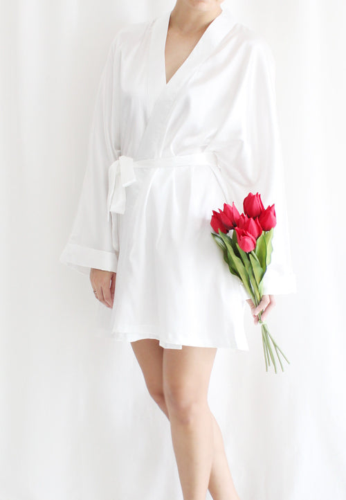 [BACKORDER] TC Lysa Kimono Robe (White) - Free Size TUESDAY C. - TUESDAY C.