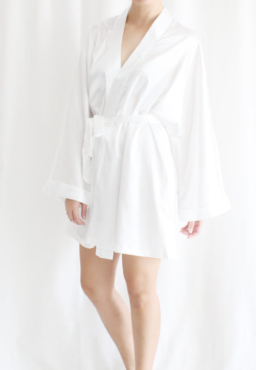 [BACKORDER] TC Lysa Kimono Robe (White) - Free Size - TUESDAY C.