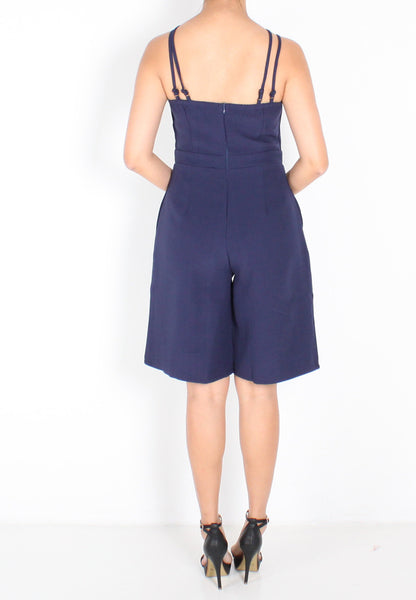 Addison Romper (Navy Blue) - S / M - TUESDAY C.