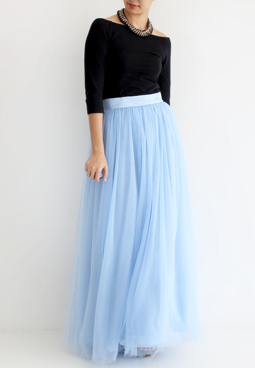 (20% OFF) TC Hertha Tulle Maxi Skirt (Baby Blue) - XS / S / M / L - TUESDAY C.
