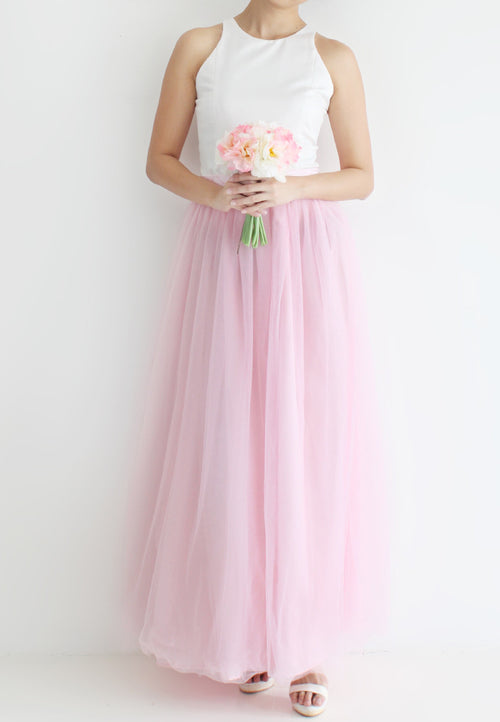 (20% OFF) TC Hertha Tulle Maxi Skirt (Pink) - XS / S / M / L - TUESDAY C.