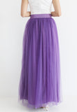(20% OFF) TC Hertha Tulle Maxi Skirt (Dark Purple) - XS / S / M / L - TUESDAY C.