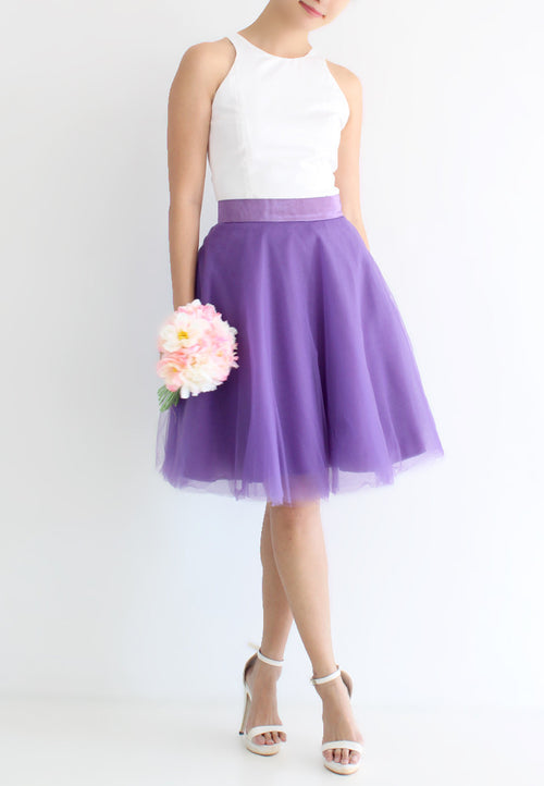 TC Iris Tulle Midi Skirt (Dark Purple) - XS / S / M / L - TUESDAY C.