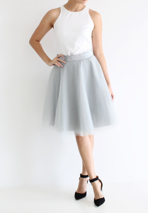 [BACKORDER] TC Iris Tulle Midi Skirt (Grey) -  XS / S / M / L / XL TUESDAY C. - TUESDAY C.