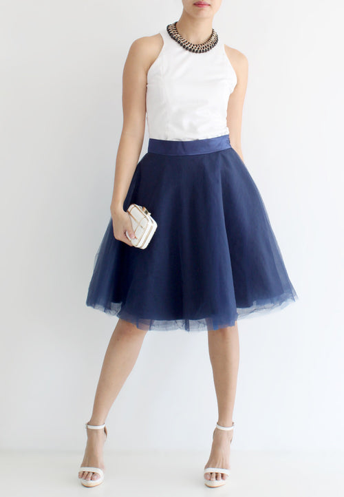 [BACKORDER] TC Iris Tulle Midi Skirt (Navy Blue) - XS / S / M / L / XL TUESDAY C. - TUESDAY C.