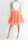 TC Iris Tulle Midi Skirt (Orange) - XS / S / M / L - TUESDAY C.
