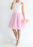 [BACKORDER] TC Iris Tulle Midi Skirt (Pink) -  XS / S / M / L / XL TUESDAY C. - TUESDAY C.